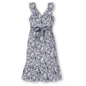 Vineyard Vines V-Neck Navy/White Dress